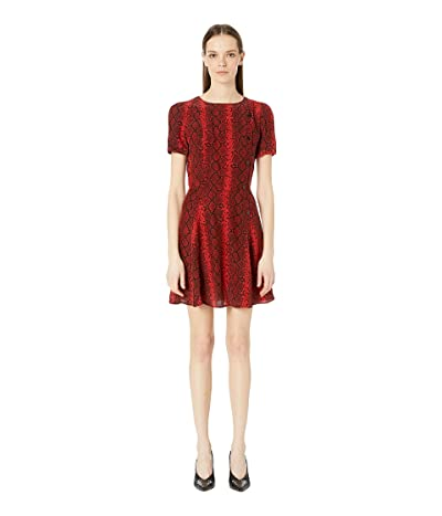The Kooples Red Hot Snake Print Dress (Red) Women