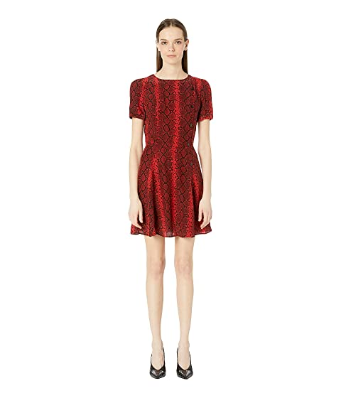 The Kooples Red Hot Snake Print Dress