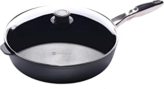 Swiss Diamond Nonstick Saute Pan with Lid, Stainless Steel Handle - 5.8 qt (12.5