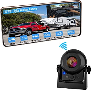$85 » Wireless Backup Camera for Car, Magnetic Trailer Hitch Reverse Camera with Rechargeable Battery, IR Night Vision Vehicle B...