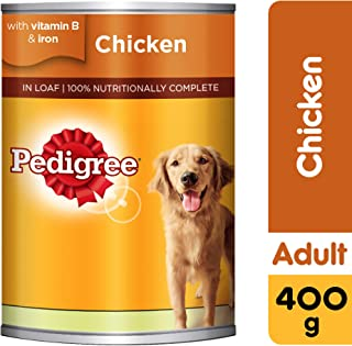 Pedigree Chicken Loaf, Wet Dog Food, Can, 24 x 400g