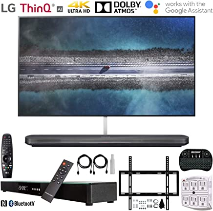 """$6996 Get LG OLED65W9PUA 65"""" W9 Signature OLED 4K HDR Smart TV w/AI ThinQ (2019) +Deco Gear Home Theater Surround Sound 31"""" Soundbar +Deco Mount Flat Wall Mount Kit + 2.4GHz Wireless Keyboard w/Touchpad +More"""