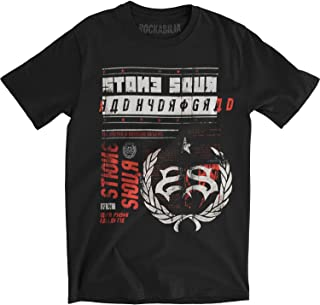 Stone Sour Men's Backwards Letter Slim Fit T-Shirt Black