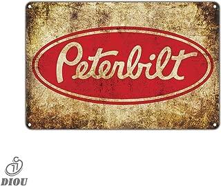 Peterbilt Auto Trucks Retro Vintage Tin Sign Metal Sign Metal Decor Wall Poster Wall Decor TIN Sign 7.8X11.8 INCH