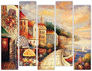 All Your Design Multiple Frames Split Art Texture MDF Wall Paintings, Wall Art Panels UV Paintings for Living Rooms, Bedro...