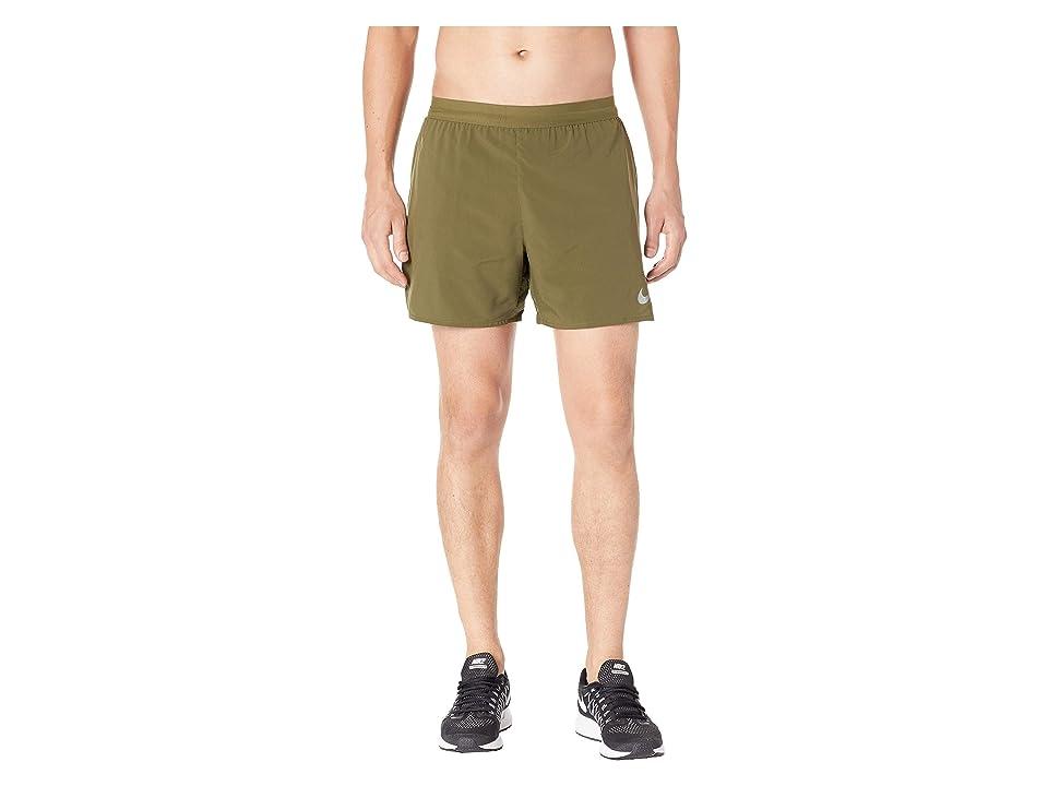 Nike Flex Stride 5 Running Short (Olive Canvas/Campfire Orange) Men