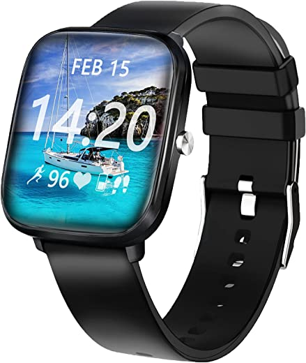 Smart Watch, HuaWise Smart Watch for Android Phones and iOS, HD Touch Smartwatch Waterproof Fitness Tracker Watch with Heart Rate, Stopwatch, Smart…