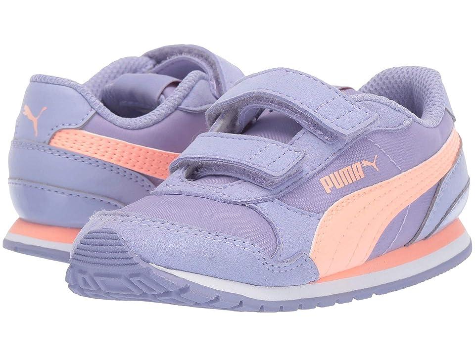 Puma Kids ST Runner Velcro (Toddler) (Sweet Lavender/Bright Peach/Puma White) Girl