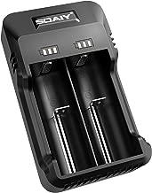SOAIY Cargador de Pilas Inteligente con indicador LED Carga Universal para 3.7V Ion Litio 26650/18650 1.2V NI-MH/NI-CD AA/AAA