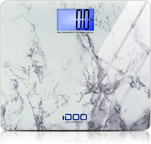 iDOO Precision Ultra Wide Oversized Digital Bathroom Weight Scale Heavy Duty Big Platform with Extra Large Backlit LC...
