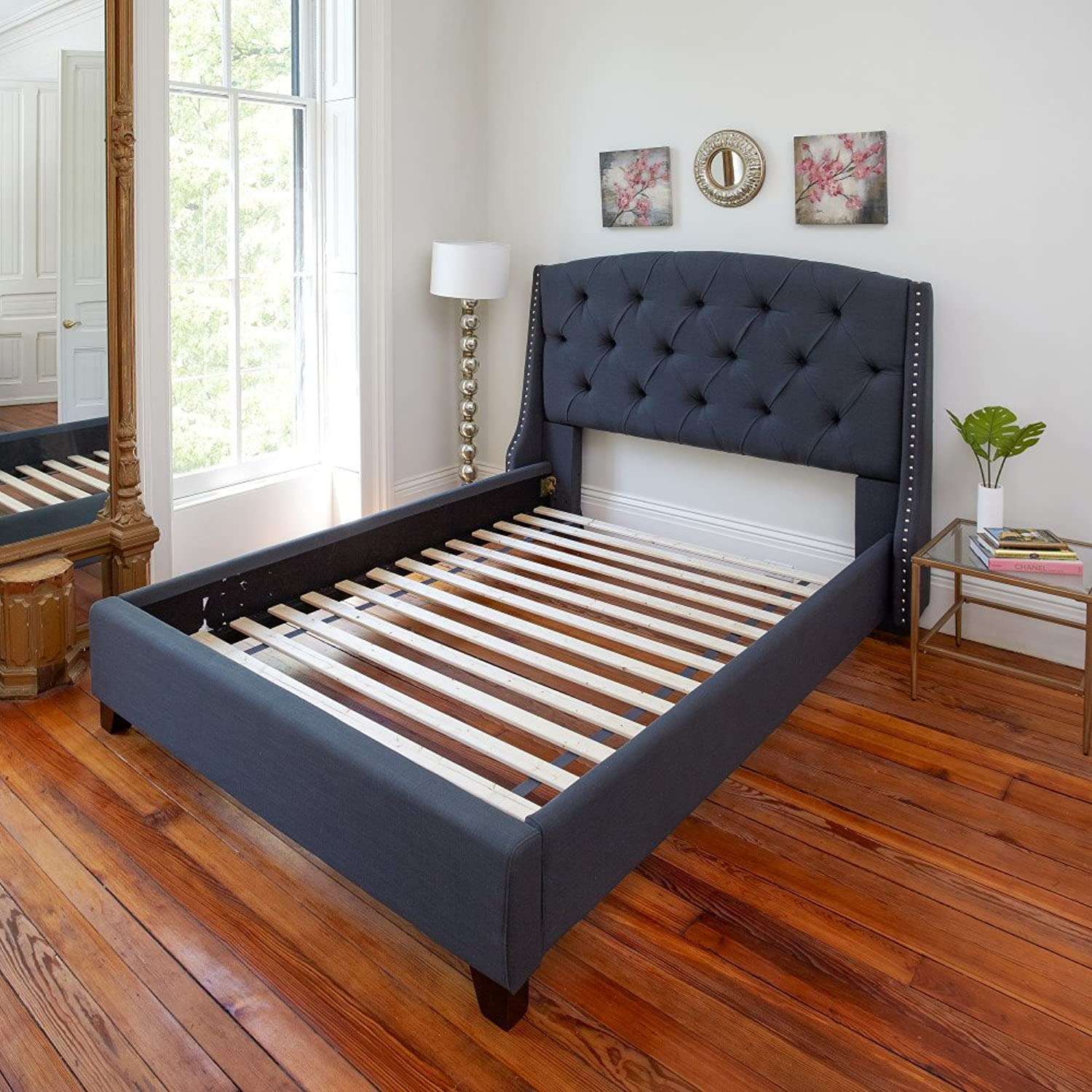 Classic Brands Solid Wood Bed Support Slats   Bunkie Board, Twin XL