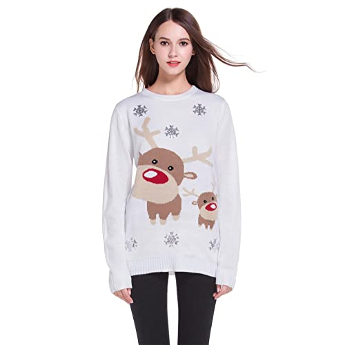 9e3aef99f29e79  daisysboutique      Women s Christmas Cute Reindeer Knitted Sweater Girl  Pullover