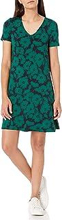 Amazon Essentials Womens Short-Sleeve V-Neck Swing Dress