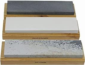 Arkansas Sharpening Stone Set - Wood Mounted 6