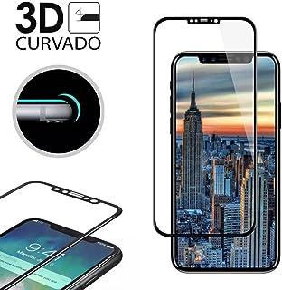 45bae519aa5 MUNDDY Protector Cristal Templado Completo Negro curvo 3D 4D 5D para iPhone  X 5.8
