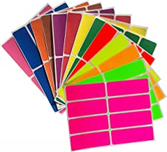 Royal Green Colored Label Sticker Rectangle in 13 Colors 1 x 3 inch writable Labels - 104 Pack