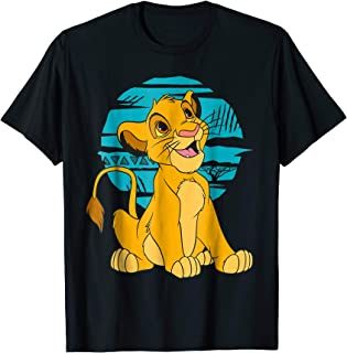 The Lion King Young Simba Happy Blue Retro T-Shirt