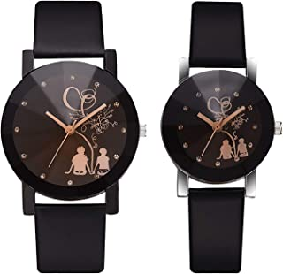 080fb0ffcb Dlady Most Gifted Black Dial Love Bird Analog Watch for Men and Women