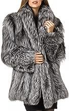 Rvxigzvi Womens Faux Fur Coat Plus Size Parka Jacket Long Trench Winter Warm Thick Outerwear Overcoat US XS-4XL