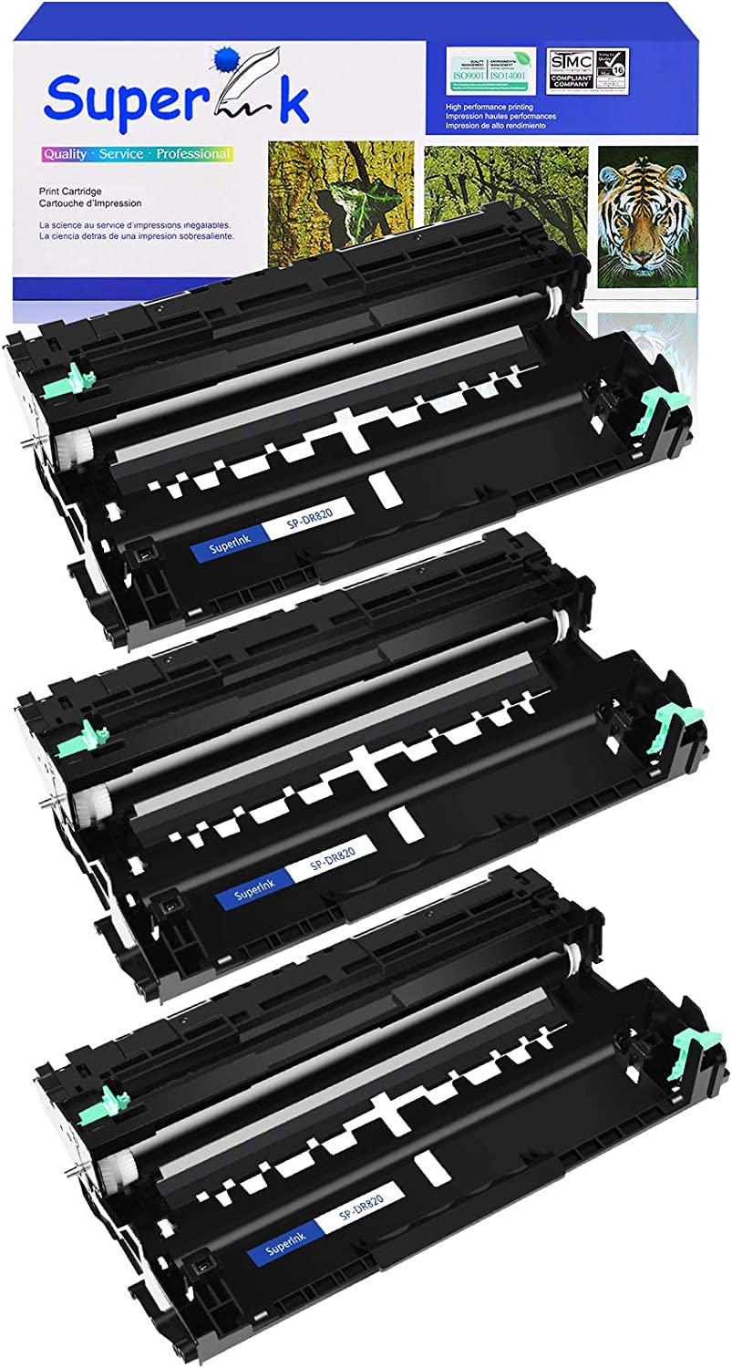 SuperInk High Yield Compatible Drum Unit Replacement for Brother DR820 DR-820 Work in MFC-L5700DW MFC-L5800DW MFC-L5850DW MFC-L5900DW Printer (Black,3 Pack)