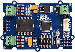 Seeed Studio Grove - I2C Motor Driver Atmel ATmega8L Dual Channel H-Bridge Driver Power Brushed DC Motors and 1 Stepper Motor Arduino Compatible with 5V Voltage Regulator