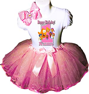 Bubble Guppies Birthday Party Dress 1st Birthday Pink Tutu Outfit Shirt