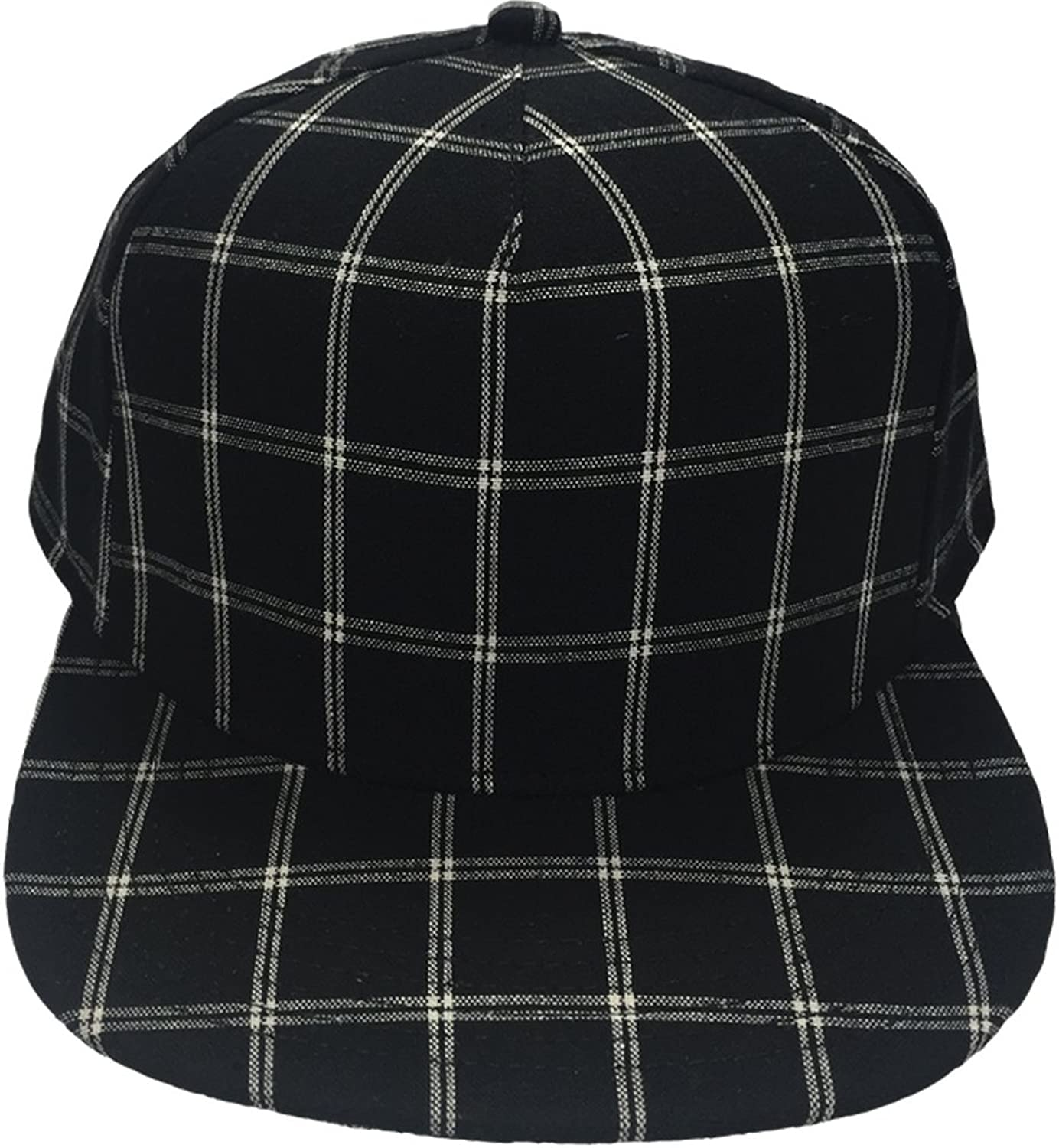 Gents Chairman Black White Cotton Flatbrim