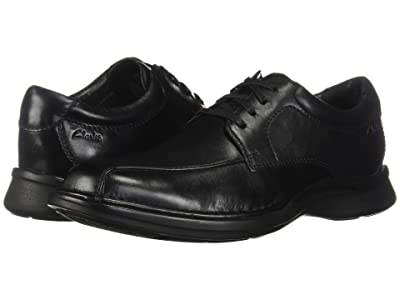 Clarks Kempton Run (Black Leather) Men