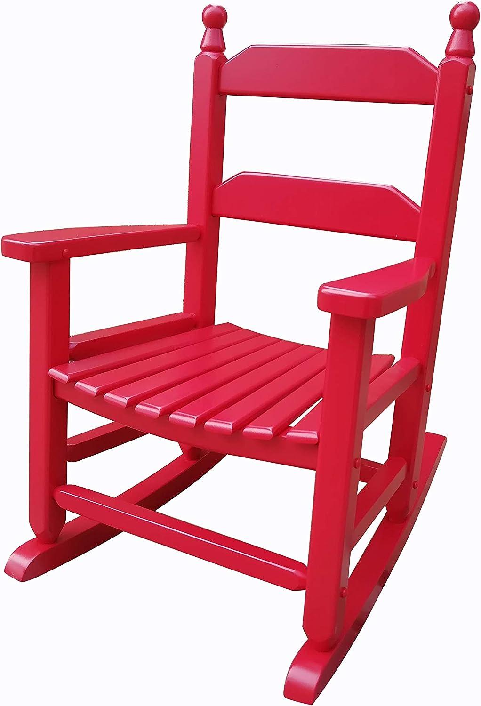 rockingrocker - K081RD Large-scale sale Durable Cheap SALE Start Red Child's Wooden Rocking C