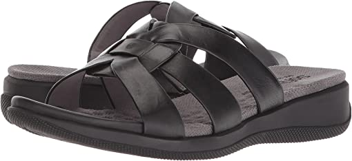 Black Soft Sandal Leather