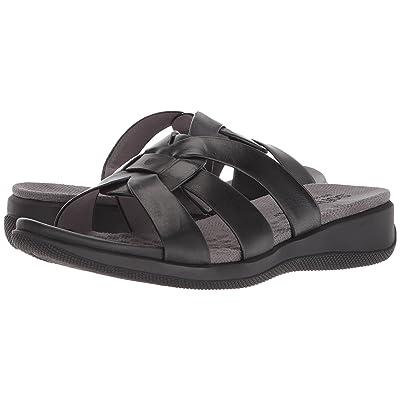 SoftWalk Thompson (Black Soft Sandal Leather) Women