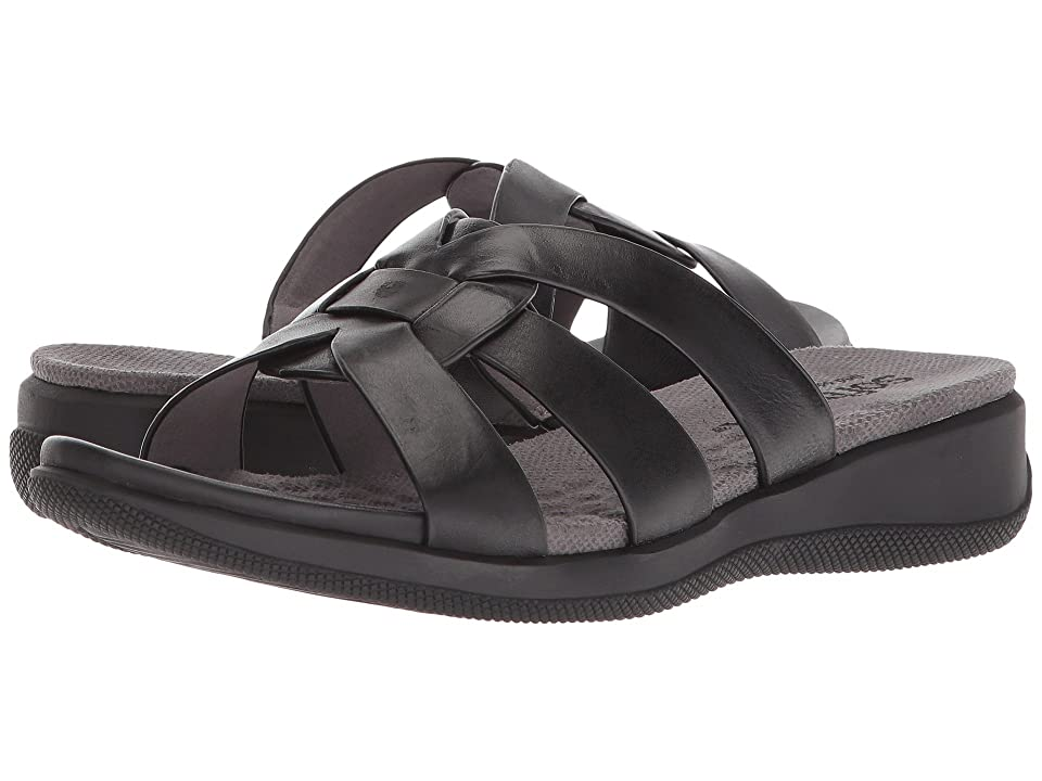 SoftWalk Thompson (Black Soft Sandal Leather) Women