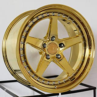 18x8.5 Aodhan DS05 DS5 5x100 35 Gold Vacuum Wheel Rim