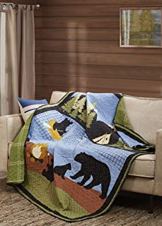 Virah Bella Collection - Meghann McGivney Bear Lake Primitive Quilted Throw