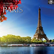 2019 Wall Calendar - Paris Calendar, 12 x 12 Inch Monthly View, 16-Month, Travel and Destination Theme, Includes 180 Reminder Stickers