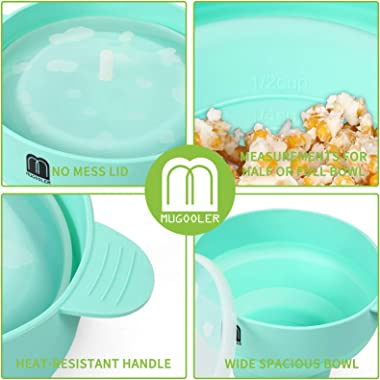 MMUGOOLER Original Microwave Popcorn Popper, Silicone Popcorn Maker, Collapsible Bowl BPA Free and Dishwasher Safe,Quick &amp
