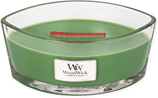 Evergreen WoodWick New Collection HearthWick Flame Large Oval Jar Scented Candle - 16 Ounces