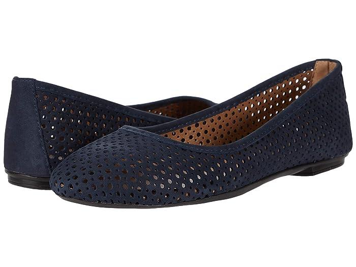 French Sole  League (Navy Nubuk) Womens Flat Shoes
