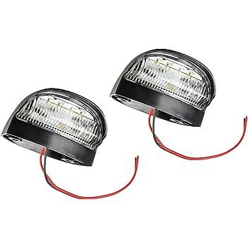 WINOMO 12V LED Kennzeichenbeleuchtung Lampe Tag Licht mit 18 LEDs wei/ßes Licht 2 PCS