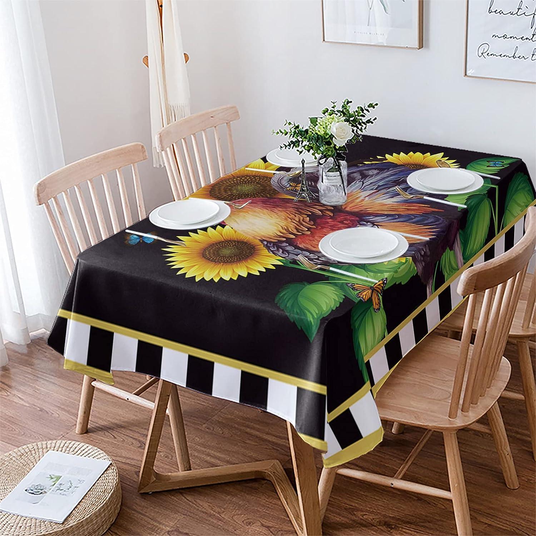 Womenfocus Houston Mall Rectangle Tablecloth for Washington Mall Farm Sunflow Dinning Kitchen