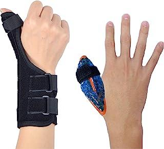 BodyMoves Thumb Splint Brace Plus Finger Hot and Cold Gel Pack- for de quervain's tenosynovitis, Tendonitis, Trigger Thumb...