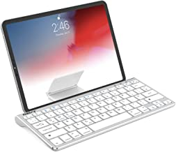 Best Nulaxy KM13 Bluetooth Keyboard with Sliding Stand Compatible with Apple iPad iPhone Samsung Android Windows Tablets Phones - Silver Review