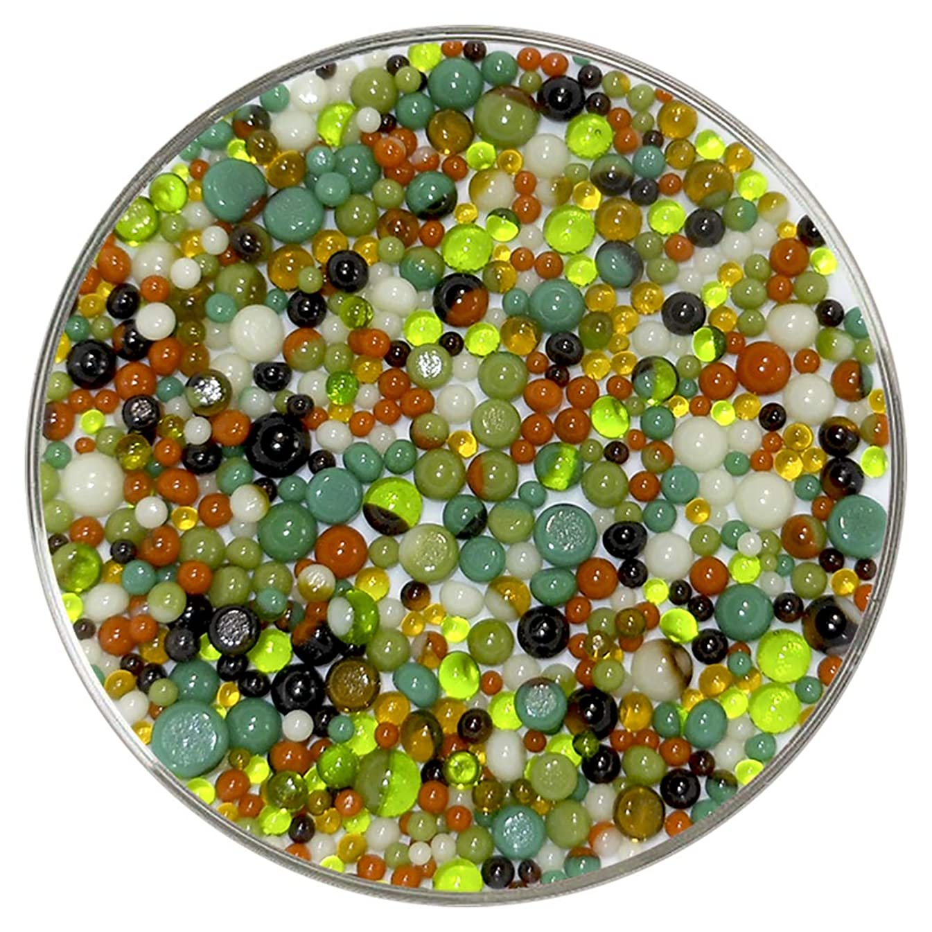 Rain Forest Designer Collection Mix Frit Balls - 90COE, New Larger 1oz Size - Made from Bullseye Glass by New Hampshire Craftworks