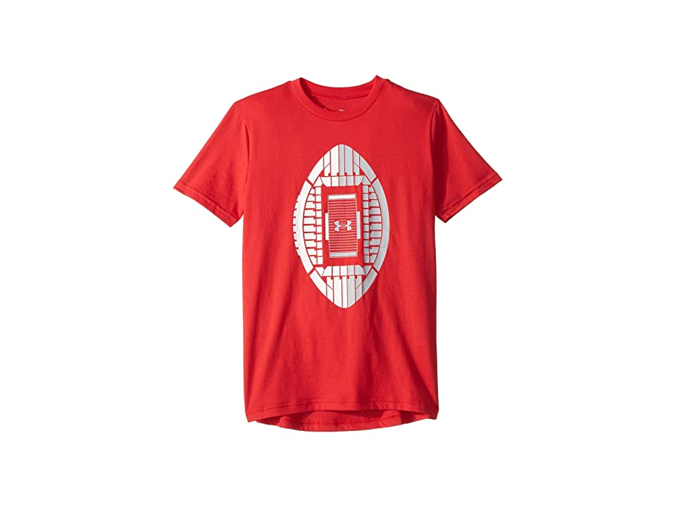 Under Armour Kids - Under Armour Kids Stadium Icon Tee  (Red)