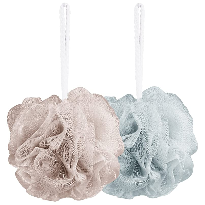インシュレータコーンウォール免除するAahlsen 泡立てネット 超柔軟 シャワー用 ボディ用お風呂ボール 花形 タオル 2点セット