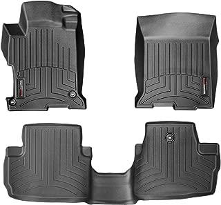 WeatherTech Custom Fit FloorLiner for Honda Accord - 1st & 2nd Row (Black)
