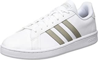 adidas Grand Court Wht Mauve Gry Womens Sneakers Casuals Shoes