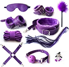 tyufgt6u Lederen oefenharnas sport kit van 10 stuks öňd gê D0 HạṇdcVoff Cff Cöllr Chin Whíp Soft Strạp Rèsrain-Purple