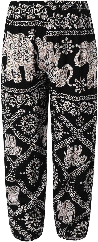 YEAHDOR Kids Boys Girls Yoga Pants Baggy Boho Harem Pants Floral Print Hippie Bohemian Pants Casual Gypsy Pants