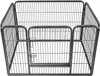 TecTake Parque para Mascotas Valla Libre Corriendo Jaula para Animales - Varios Modelos - (Rectangular | no. 401718)